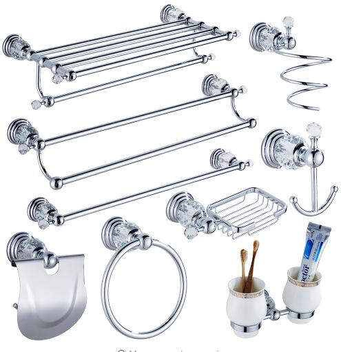 Aliexpresscom Buy Modern Clear Crystal Bathroom Accessories Sets - Best place to buy bathroom hardware