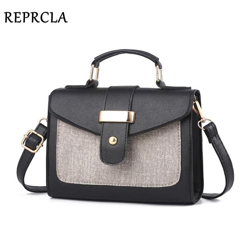 REPRCLA 2019 Fashion Shoulder Bag Leather Handbag Small Flap Women Messenger Bags High Quality PU Crossbody Bags Ladies Purse