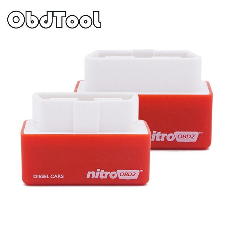 Obdtool Best Nitro OBD2 чип тюнинг коробка более Мощность nitroobd2 Nitro для автомобиля дизель Nitro БД plug & Drive розничной продажи коробка LR20