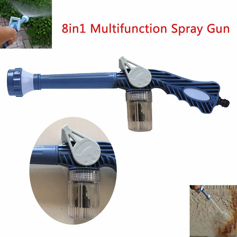 Blue 8 in 1 Multifunction Spray Gun Garden Sprayer W/Built-in Soap Dispenser for Car Washing garden Lawn in garden фольга дл лить 14 красный песок