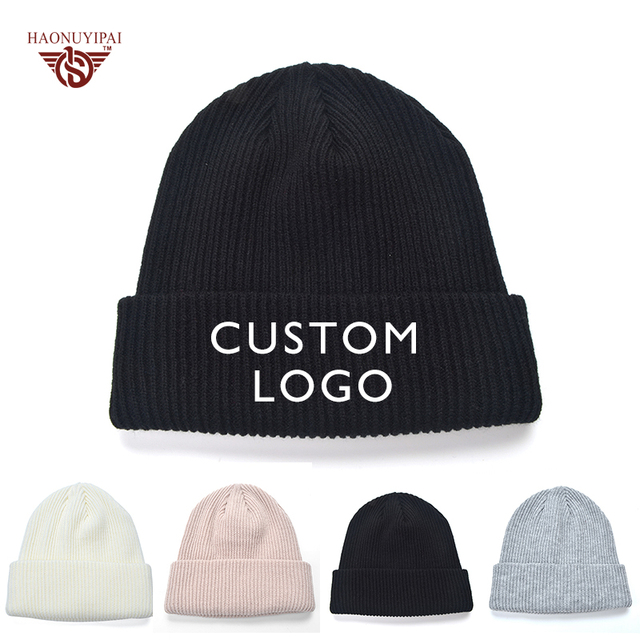 106b78cf US $15.5 |Customize LOGO Winter Knit Hats Unique Cap Customize The Pattern  Skullies Beanies Women Men Custom Hat With Your Own LOGO-in Skullies & ...