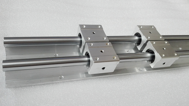 ФОТО 12mm linear rail 2pcs SBR12 600mm supporter rails + 4pcs SBR12UU blocks for CNC linear shaft support rails and bearing blocks