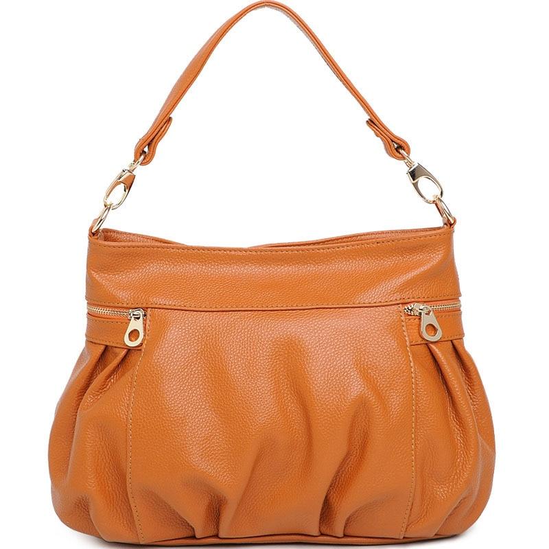 2018 女性のメッセンジャーバッグ高品質本革のショルダーバッグデザイナーの女性のハンドバッグ MQ22  グループ上の スーツケース & バッグ からの ショッピングバッグ の中 1