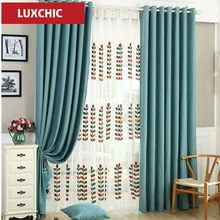 Luxchic  Window Curtains For living Room/ Bedroom Blackout Curtains Window Treatment /drapes Home Decor Free Shipping