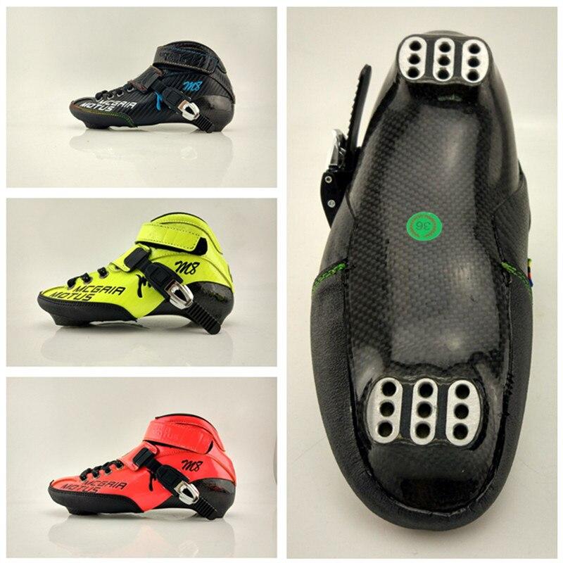 Professionnel Marathon Rue Route Inline Vitesse Patins Chaussures Boot pour Adultes Enfants Noir Jaune Rouge Taille 27 28 29 à 41 42 43 44
