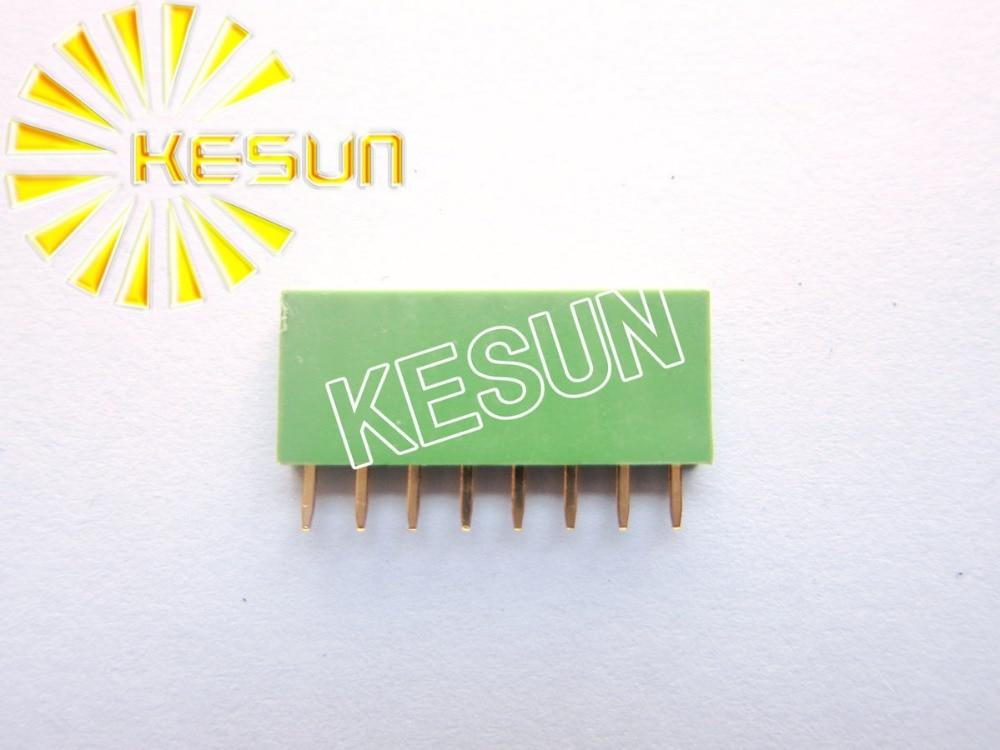 2.54MM 1X8 8Pin Green Female Pin Header Strip x 500PCS