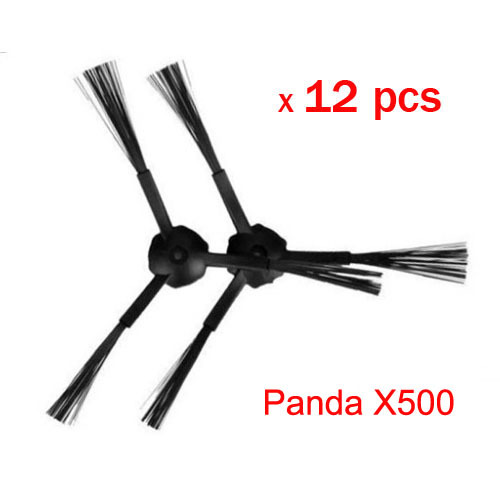 12 pcs(6 set)3-arm side brush Replacement For panda X500 ECOVACS CR120 vacuum cleaner accessories 3 arm side brush
