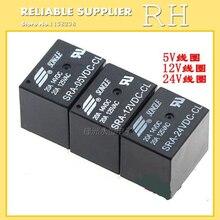 5 шт./лот Мощность реле SRA-05VDC-CL SRA-12VDC-CL SRA-24VDC-CL 5 В, 12 В, 24 В постоянного тока, 20A 5PIN T74