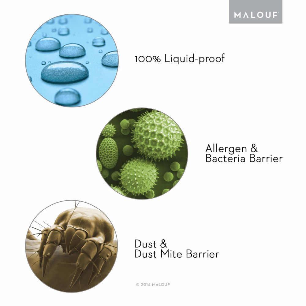 Rosja 150X200 cm 100% materac wodoodporny Protector fajne i oddychająca wyposażone pokrycie materaca do pianki materac osłona