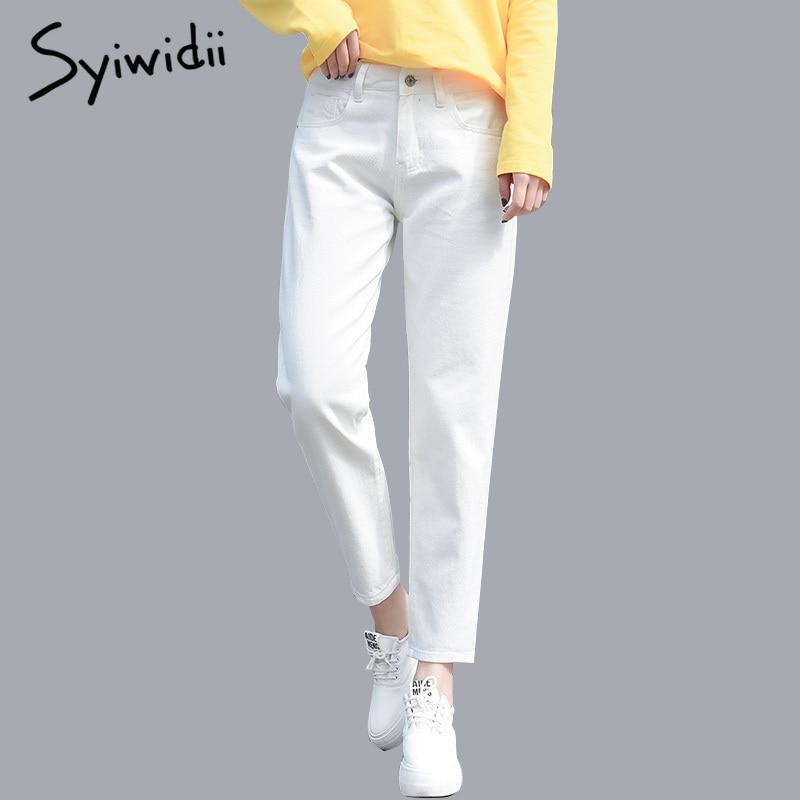 100% cotton White   Jeans   for Women High Waist Harem Mom   Jeans   Plus Size Sky Blue Pants Black FASHION for Women   Jeans   Velvet 2019