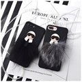 BINGSONG Luxury Lafayette Soft TPU+Fur Case cover For iPhone 6 6S Plus 7 7 Plus