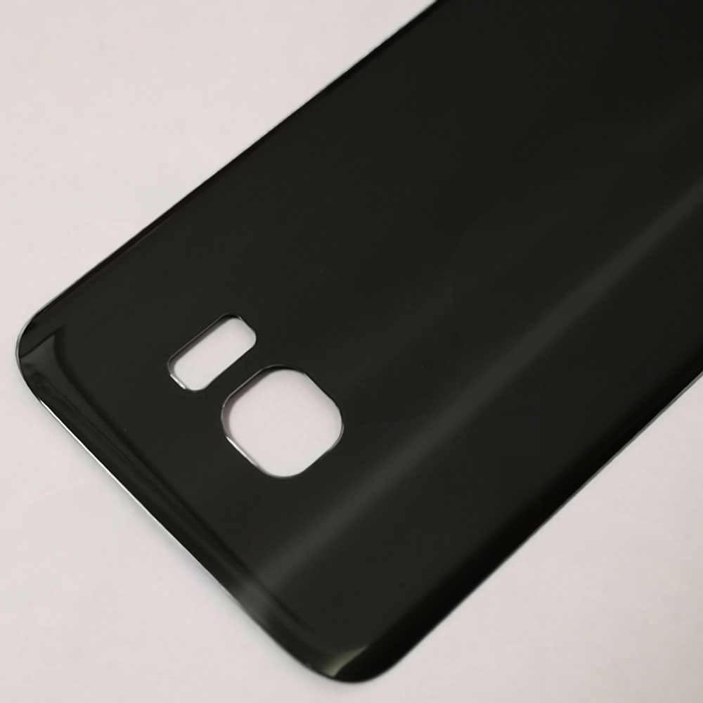 S7 G930F Cam batarya muhafazası arka kapak Arka Kapı Samsung S7 Kenar G935F Pil Kapağı Ile 3 M Sticker Tutkal Tamir parçaları