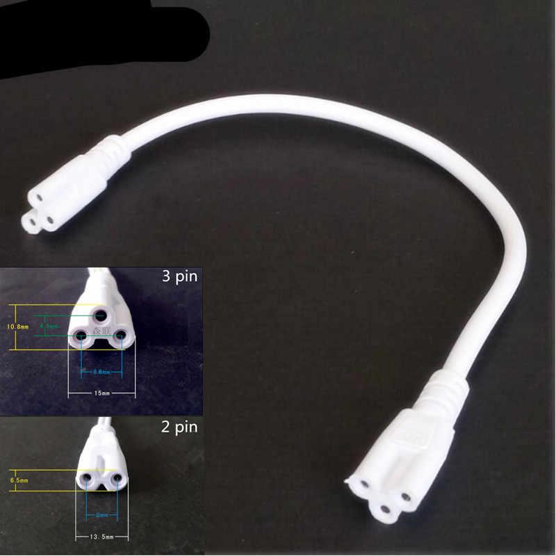 30 шт./лот 30 cm круглая T4 T5 T8 флуоресцентный трубчатый электрод с двойным концом 3 pin 2 адапетр питания светодиодный интегрированная трубка Кабельный разъем