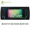 Quad core Android 5.1.1 1Din 1024*600 Автомобильный DVD PC Player Радио Аудио стерео Экран GPS Для BMW 5 E39 Серии X5 E53 M5 Диапазон Rover