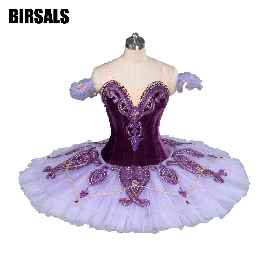 Donne Classico Costume Tutu di Ballo di Balletto Costumi di Balletto Tutu Professionale Platter Concorrenza Balletto Tutu Viola BT9085