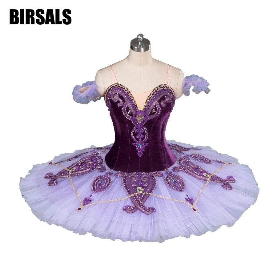 Femmes Classique Costume Tutu Ballet De Danse de Ballet Professionnel Tutu Costumes Plateau La Concurrence Ballet Tutu Violet BT9085