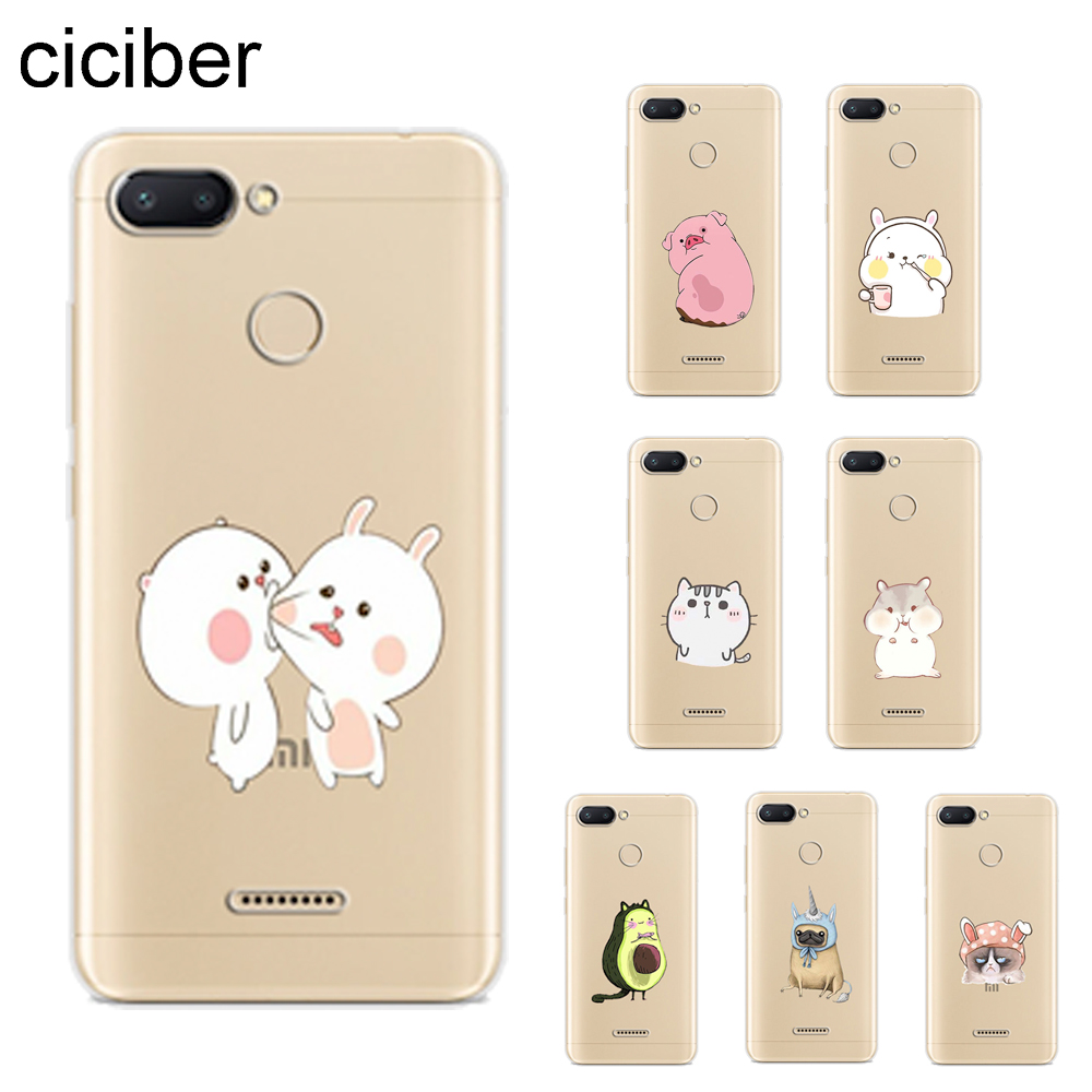 ciciber Cartoon <font><b>Rabbit</b></font> Cat Cover For <font><b>Xiaomi</b></font> <font><b>Redmi</b></font> <font><b>6</b></font> 5 4 3 A X S Plus Pro S2 Phone Case For <font><b>Redmi</b></font> Note 7 <font><b>6</b></font> 5 4 3 X A Pro Soft TPU image