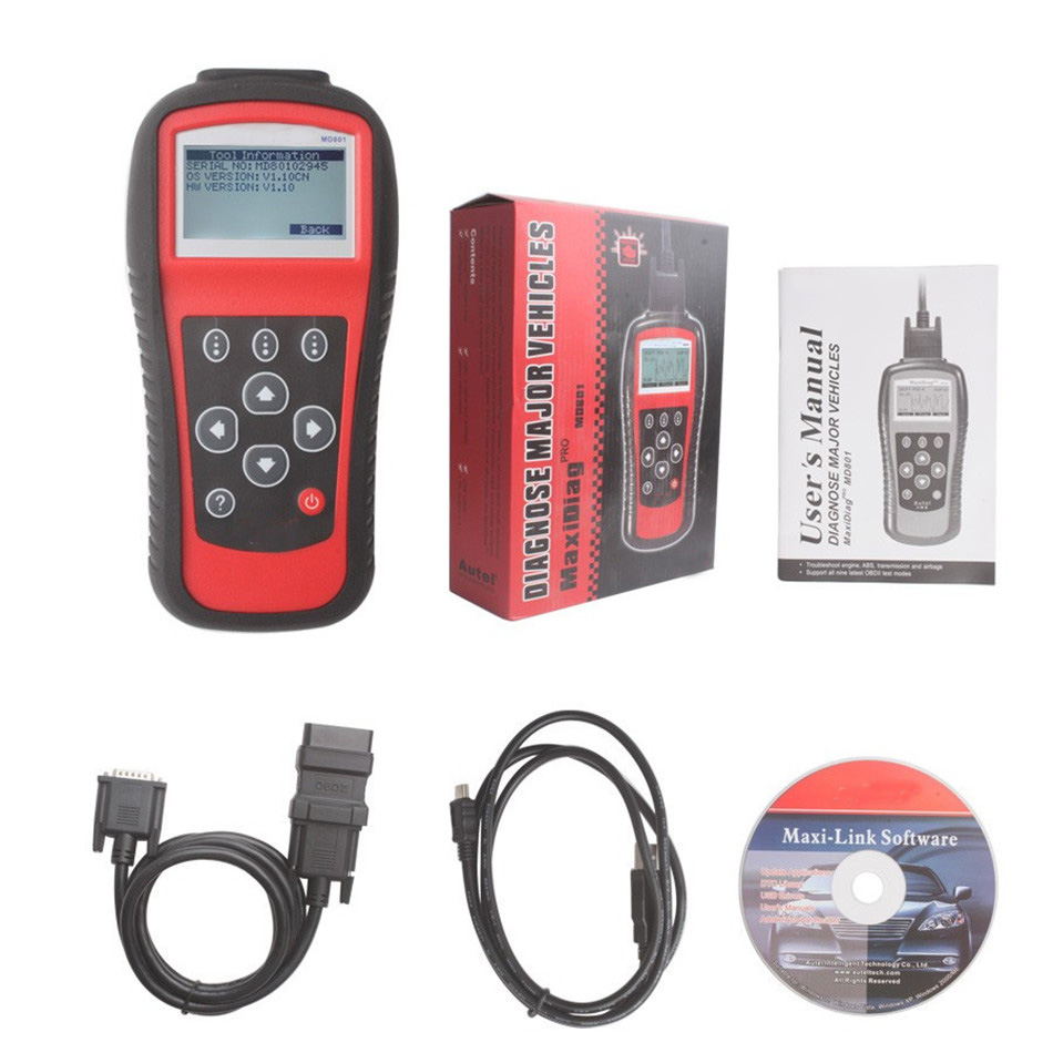 EU702 Newest Autel Pro Maxidiag 4 in 1 Scan Tool Scanner Technique Support Code Readers newest car code readers
