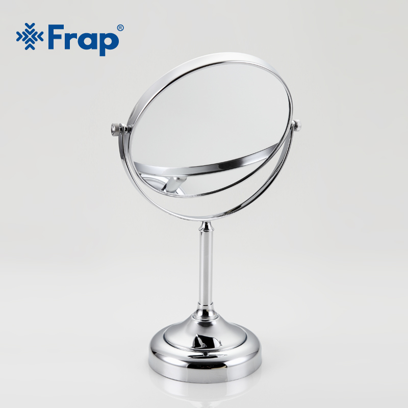 Frap New Arrival Makeup Mirror Professional Vanity Mirror Bathroom Accessories 180 Rotating Free Magnifier F6206 F6208 Bath Mirrors Bathroom Hardware