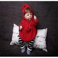 2pcs Set Children Baby Girl Boys Jumpers Autumn Winter Cartoon Clothes Cloak Sweater Pants Clothes Kids
