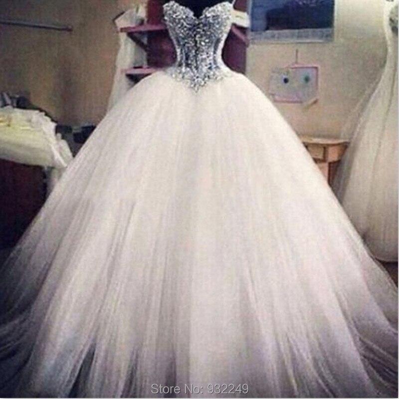 Aliexpress.com : Buy Sparkly Princess Wedding Dress Ball Gown Robe ...