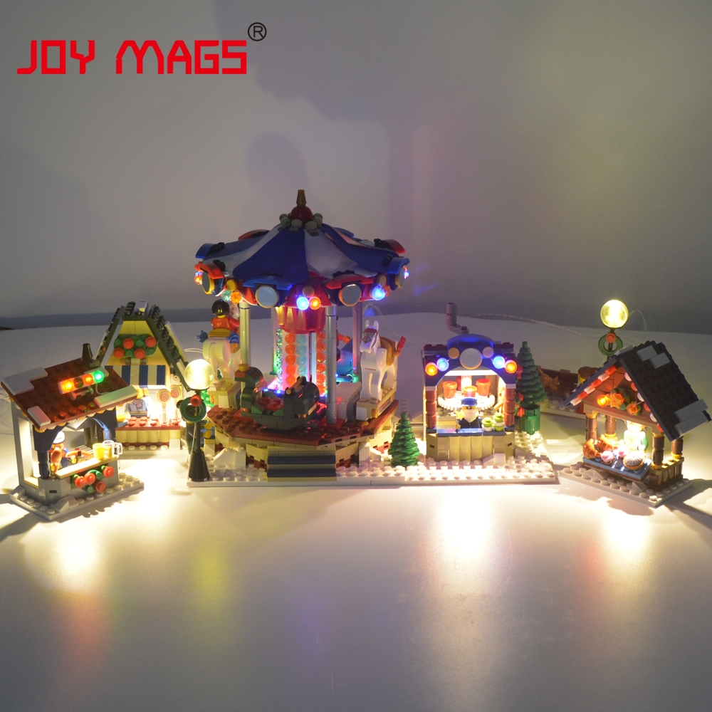 JOY MAGS Led light Only Light Set For Christmas Winter Village Market Building Block Toy Compatible
