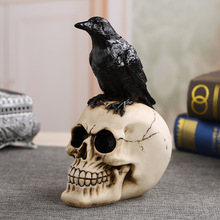 MRZOOT Nhựa Thủ Công Bức Tượng Cho Trang Trí Hộp Sọ Crow Skull Thời Trang Trang Trí Nội Thất Sáng Tạo Bức Tượng Đồ Trang Trí Cá Nhân