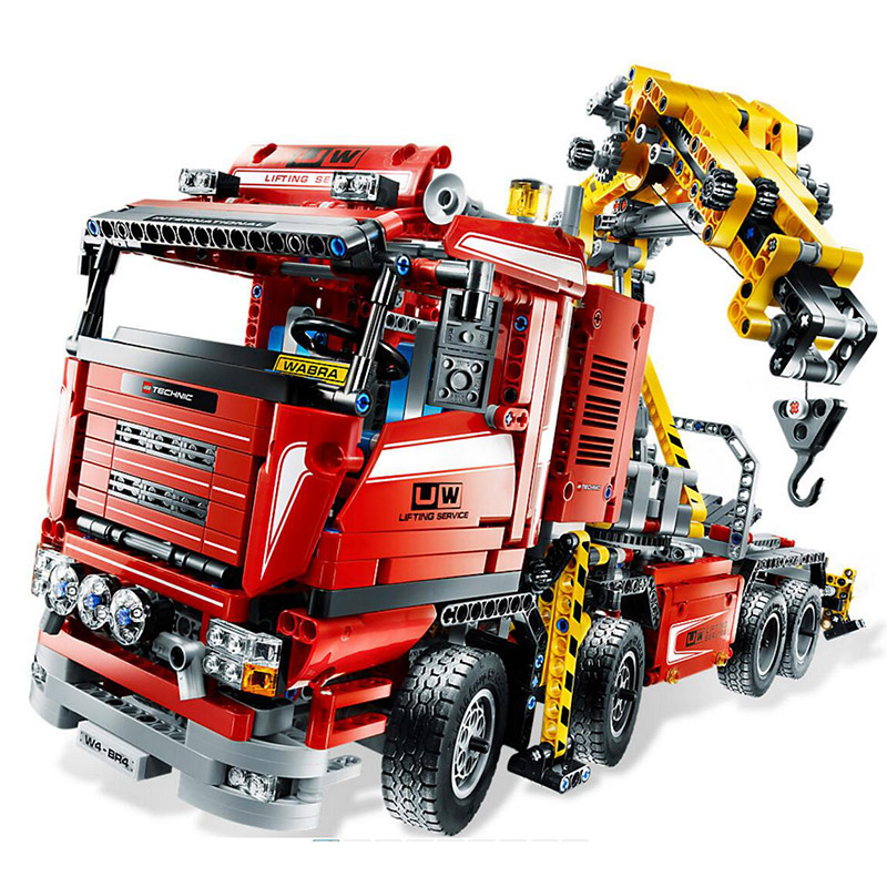 Technology Series Crane Truck 8258 Steam Train Building Blocks 1877pcs Bricks Toys Compatible With Legoings Technic 8258 new lepin 20013 technic series 1877pcs the electric crane truck model building blocks bricks compatible 8258 toy christmas gift