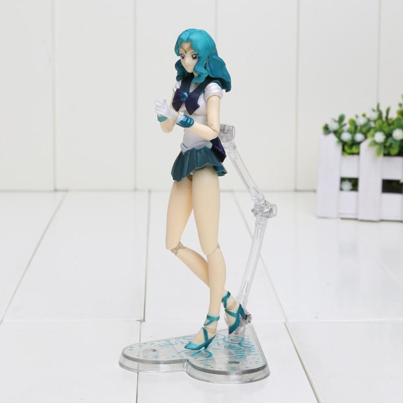 15cm Sailor Moon S.H. F Sailor Neptune Kaiou Michiru PVC Action Figure Model Toy Sailor Moon Figure