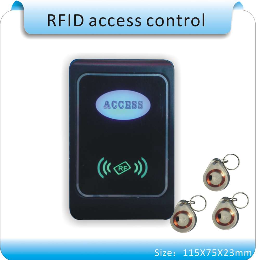 Free shipping 13.5MHZ &125KHZ two working frequency access control system support WG26 reader +10pcs crystal keyfobs free shipping waterproof rfid 125khz reader access control system wg26 reader wg26 34 port 10pcs crystal keyfob
