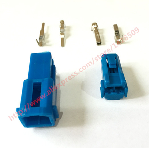 5 Set 2 Pin Female Male Audio Socket Tweeter Plug Auto Automotive Instrument Station Connector 174463-1 For Mazda CX5