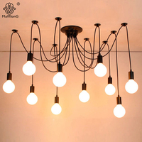 Modern Retro Art Spider Pendant Lights E27 Vintage Lamps With 5 Heads And 6 Heads 1