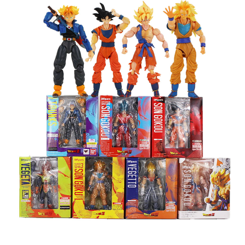 7styles 14 colors Dragon Ball Z Super Saiyan Son Gokou Vegeta Trunks PVC Action Figure Toys For Kids how to train your dragon 2 dragon toothless night fury action figure pvc doll 4 styles 25 37cm free shipping retail