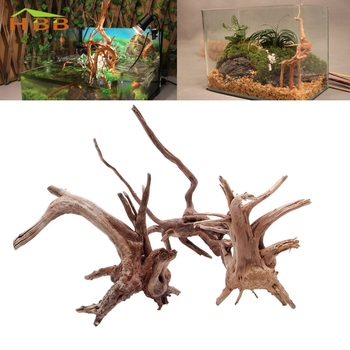 S-home New Natural Tree Trunk Plant Wood Driftwood Aquarium Fish Tank Decoration MAR7 image