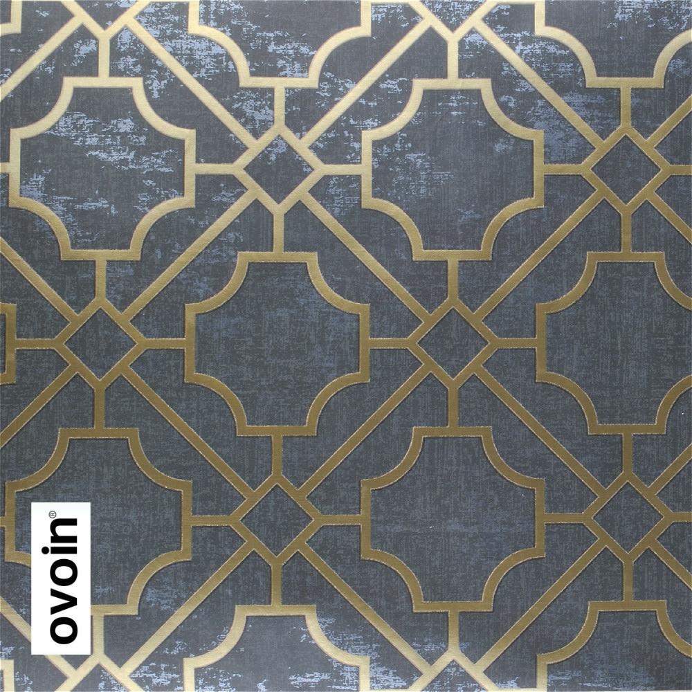 20 89 35 De Reduction Rouleau De Papier Peint Geometrique Gris Fonce Moderne Trellis Papier Peint Noir In Papiers Peints From Bricolage On