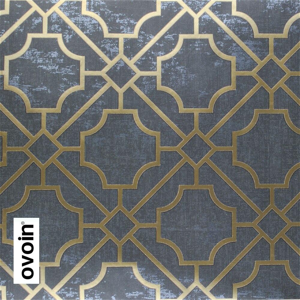 Trellis Modern Dark Grey Geometric Wallpaper Roll Black Wall Paper