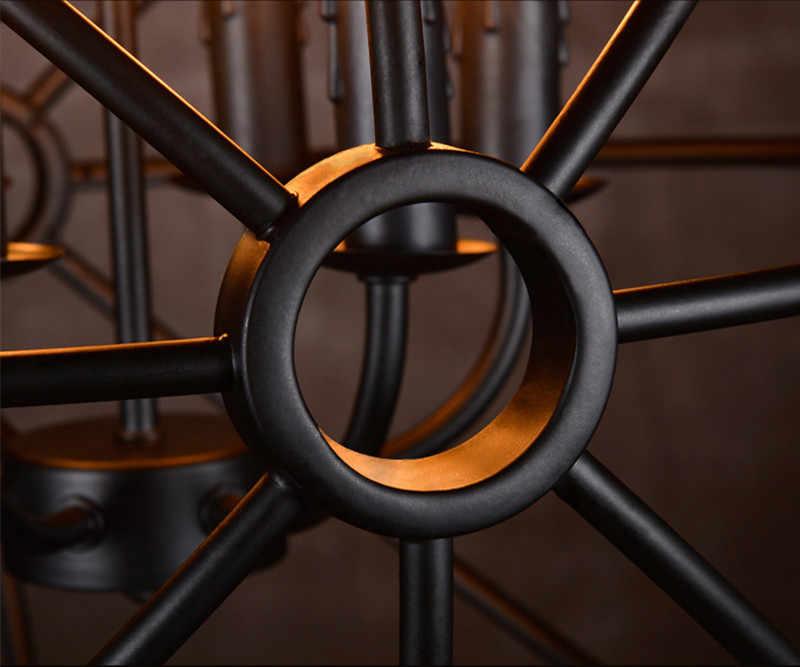 Круглые ретро Nordic круглый железный подвесной светильник focaults подвеска-Сфера Лампа Dia80cm восстановление аппаратные средства подвеска домашнего освещения NO9