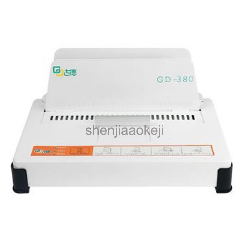GD380 термоплавкая клеевая связывающая машина контрактные документы А4 книжка конверт Автоматическая клеевая переплетная машина 100 Вт