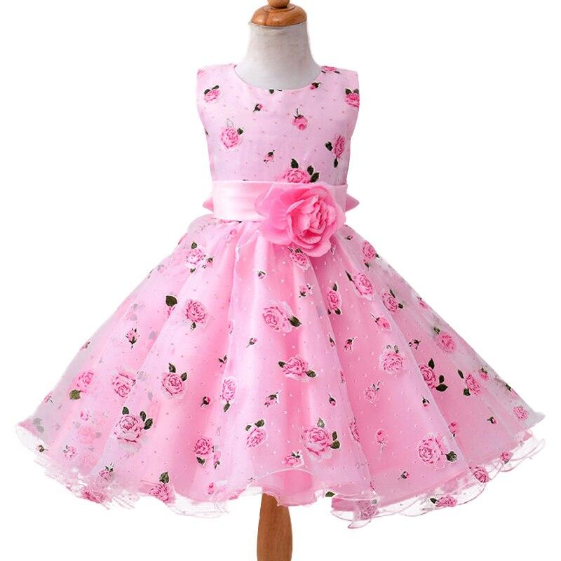 ᐂNuevo Bebé ropa de verano flor de la impresión para el vestido de ...