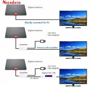 Image 4 - 174 ~ 240MHz 470 862MHz dijital kapalı ücretsiz TV anten sinyal amplifikatörü alıcı düz tasarım kablo tv için 50 miles aralığı dış