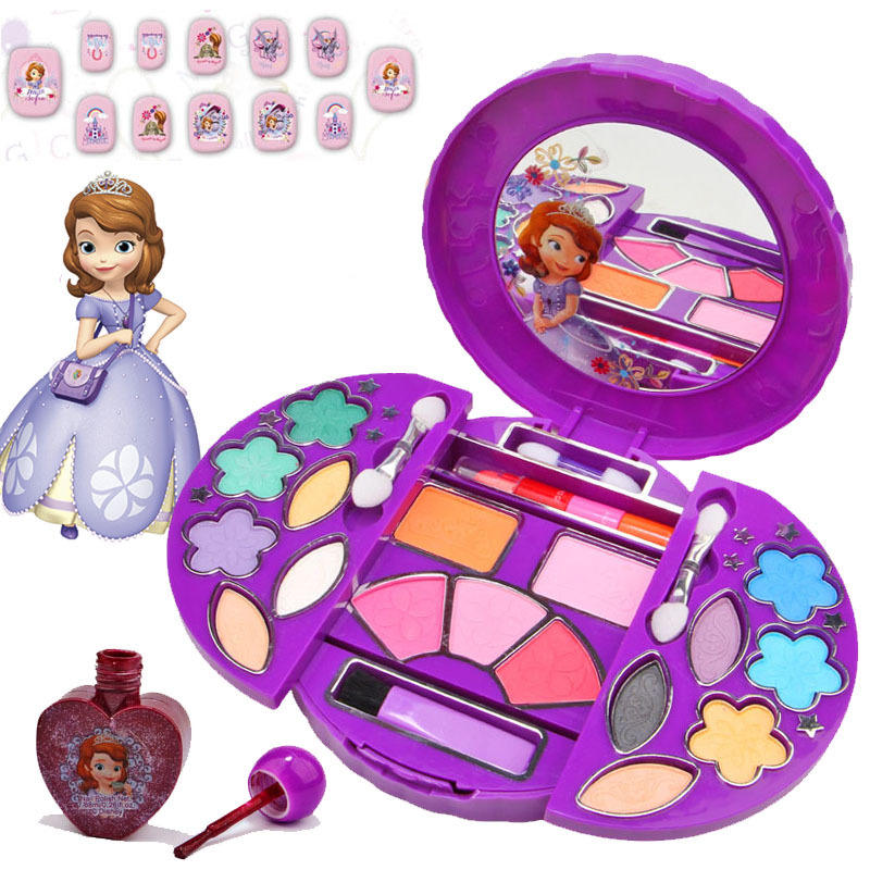Disney children's cosmetics princess Sofia non-toxic makeup box set nail  polish girl play house toys Beauty & Fashion Toy