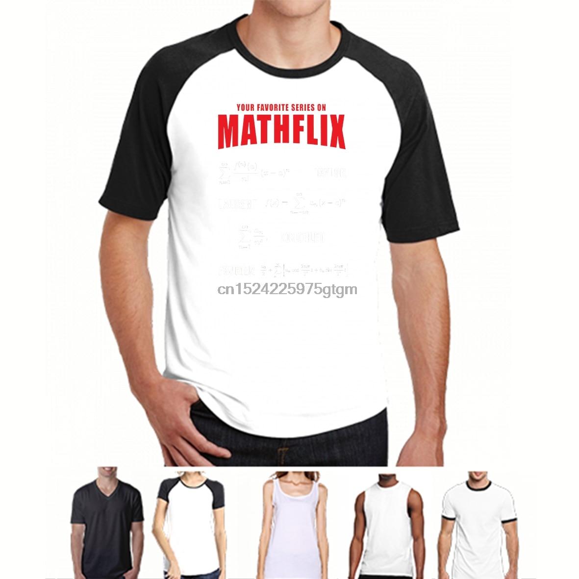 100% Cotton O-neck Custom Printed Tshirt Men T Shirt Mathflix - Math Women T-shirt