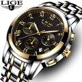 Relogio Masculino LIGE Uhr Männer Mode Sport Quarz Uhr Herren Uhren Top Brand Luxus Voller Stahl Business Wasserdichte Uhr-in Quarz-Uhren aus Uhren bei