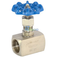 MEGAIRON BSPT 1 DN25 Thread Female Needle Valve Stainless Steel 202 Cut off Valves High Pressure J13W 160P