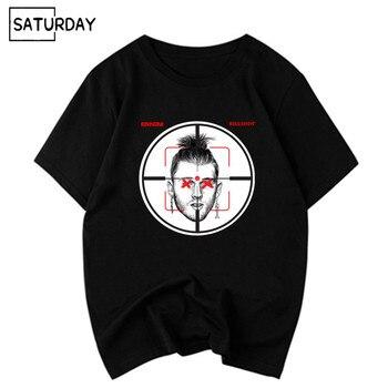 1838a957845d68 Männer Eminem Maschine Gun Kelly Diss Track Killshot Baumwolle Schwarz T- shirts Unisex Hip Hop Swag Lustige Tops T Frauen baumwolle Kleidung