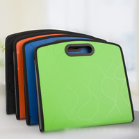 A4 File Folder Bag Expanding Wallet File Organizer 13 Layer PP Fichario Stationery with Handle the Office & School Supplies Bags