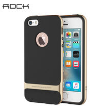 For iPhone 5S iPhone SE Case ROCK Royce Series Luxury Slim Armor Phone Cases Capa For Apple iPhone 5 5S Se Back Covers TPU+PC