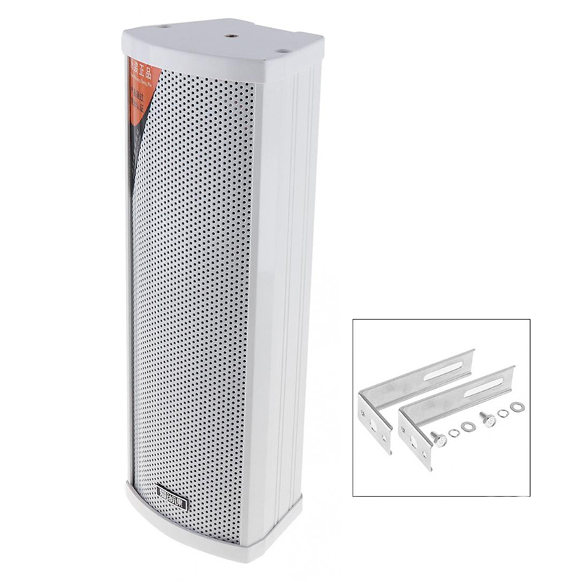 E-20 20W Fashion Rectangular Outdoor Wall-mounted Waterproof Speaker Public Broadcast Speaker For Park / School / Shopping Mall