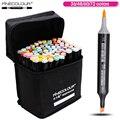 FINECOLOUR 36 48 60 72 Цвета художник двуглавый манга кисточки маркеры алкоголь Эскиз маркер для дизайн и художников