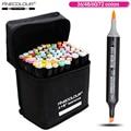 FINECOLOUR 36 48 60 72 colores artista de doble cabeza Manga cepillo marcadores Alcohol Sketch marcador para el diseño y los artistas